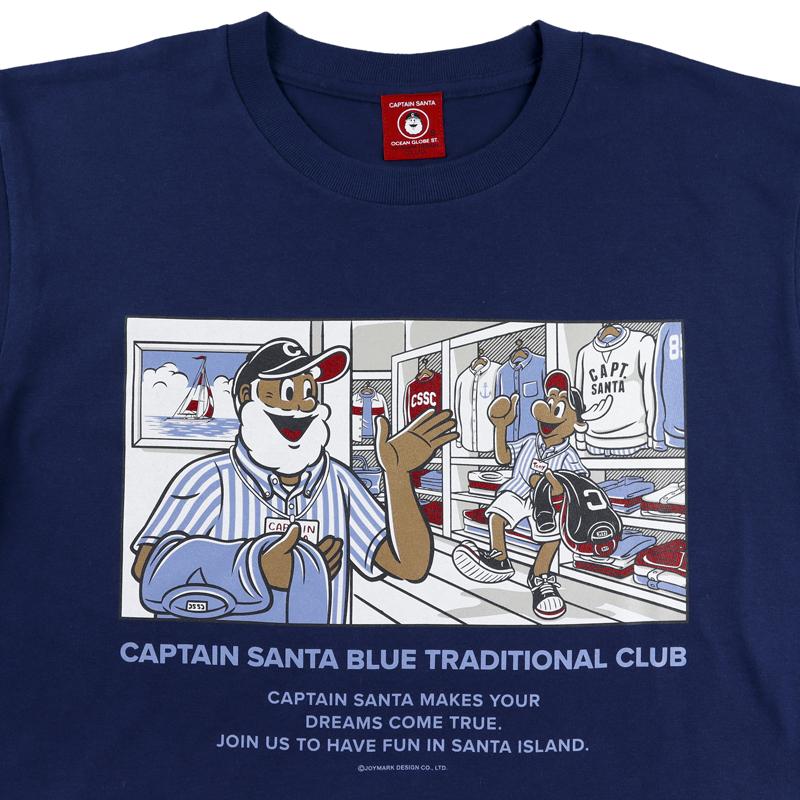 《キャプテンサンタ》コミック風ショップ柄Tシャツ