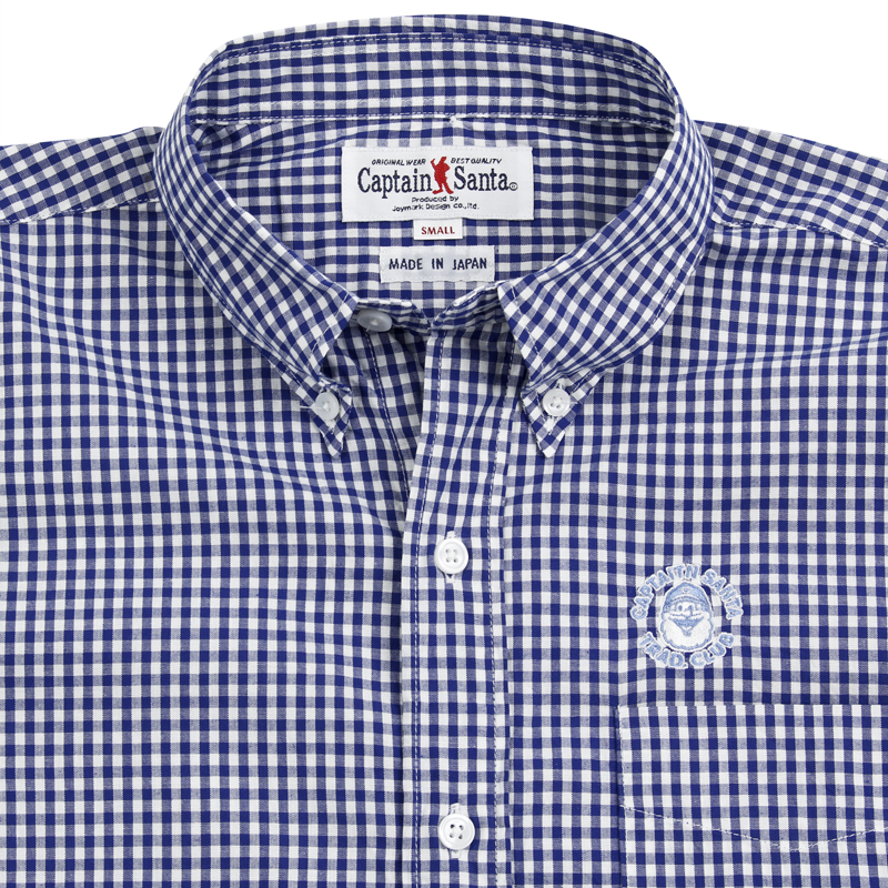 《キャプテンサンタ》ギンガムワンポイントS/S BDシャツ