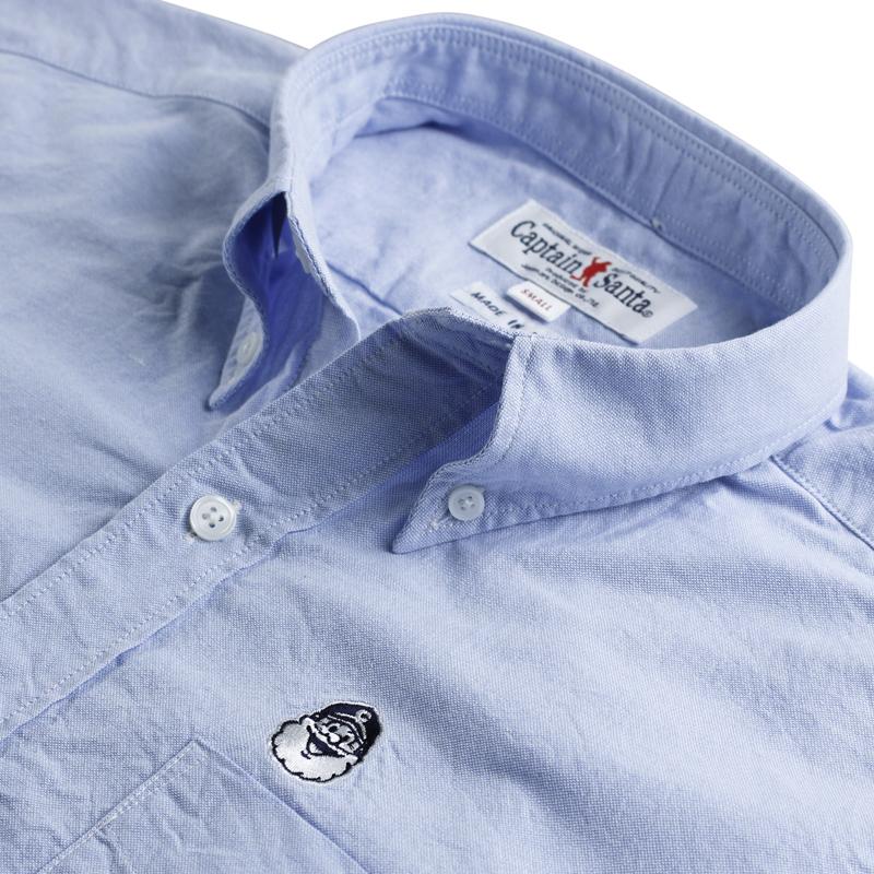 《キャプテンサンタ》CSワンポイント和紙L/SBDシャツ