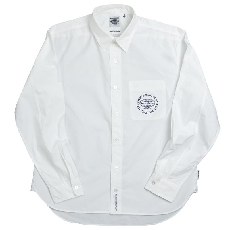 《ボートハウス》BHタイプライターL/Sシャツ(レギュラーカラー)