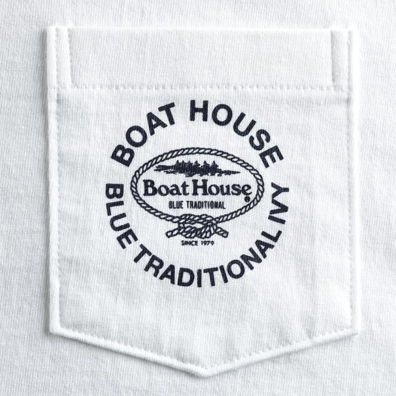 《ボートハウス》BHポケット付ヴィンテージ天竺L/STシャツ