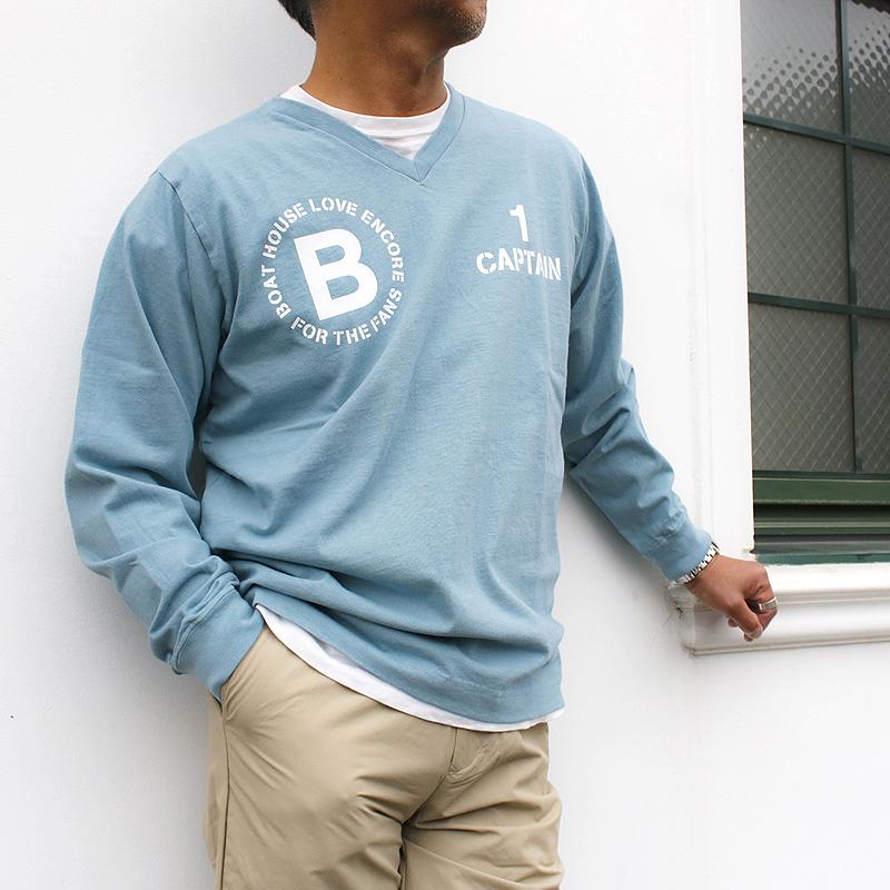 《ボートハウス》VネックL/S Tシャツ