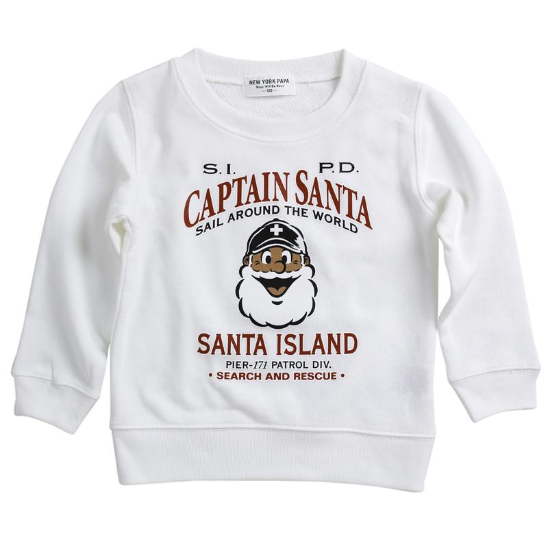 《キャプテンサンタ》SANTA ISLAND 正面顔KIDSトレーナー【KIDSサイズ】