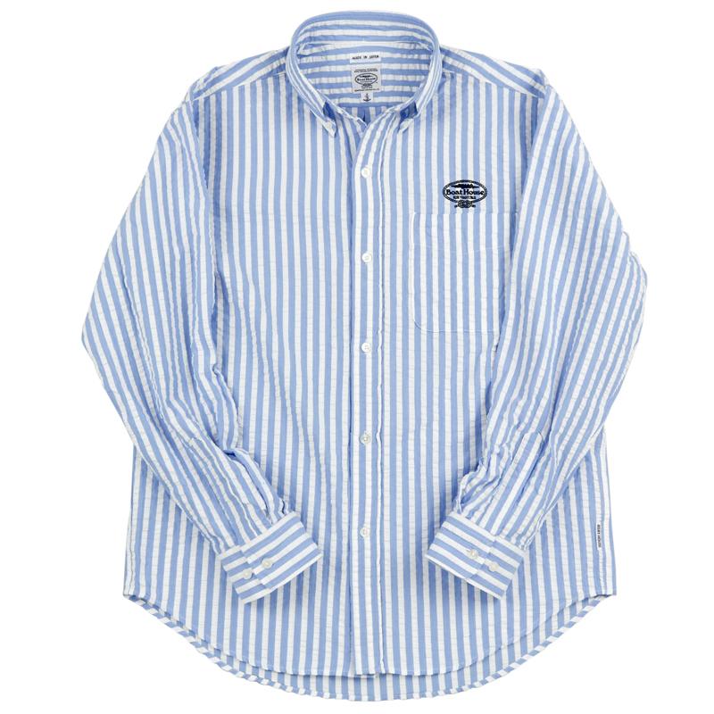 《ボートハウス》BHサッカーストライプL/SBDシャツ