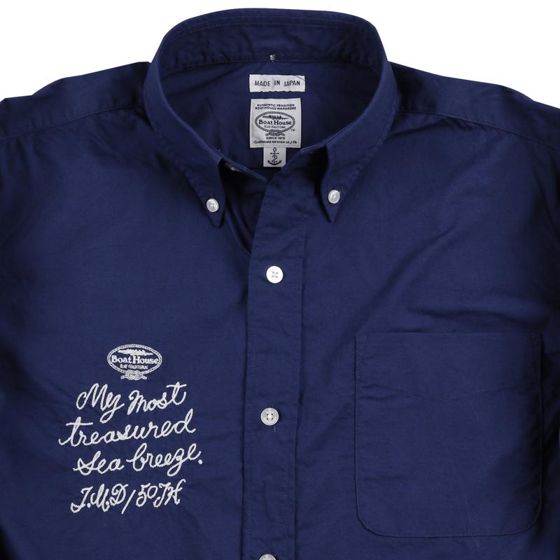 《ボートハウス》BH チェーンステッチ L/SBDシャツ