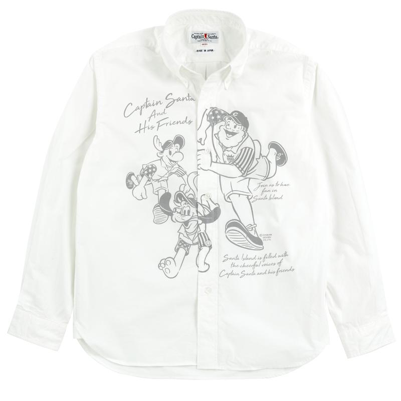 《キャプテンサンタ》CSビッグプリントL/SBDシャツ