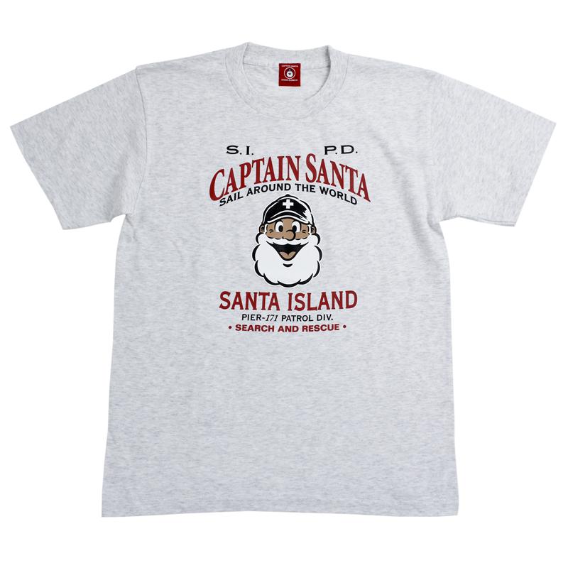 《キャプテンサンタ》SANTA ISLAND ショウメンカオTシャツ【大人】