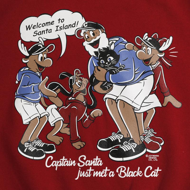 《キャプテンサンタ》CS & BLACK CAT スウェットシャツ