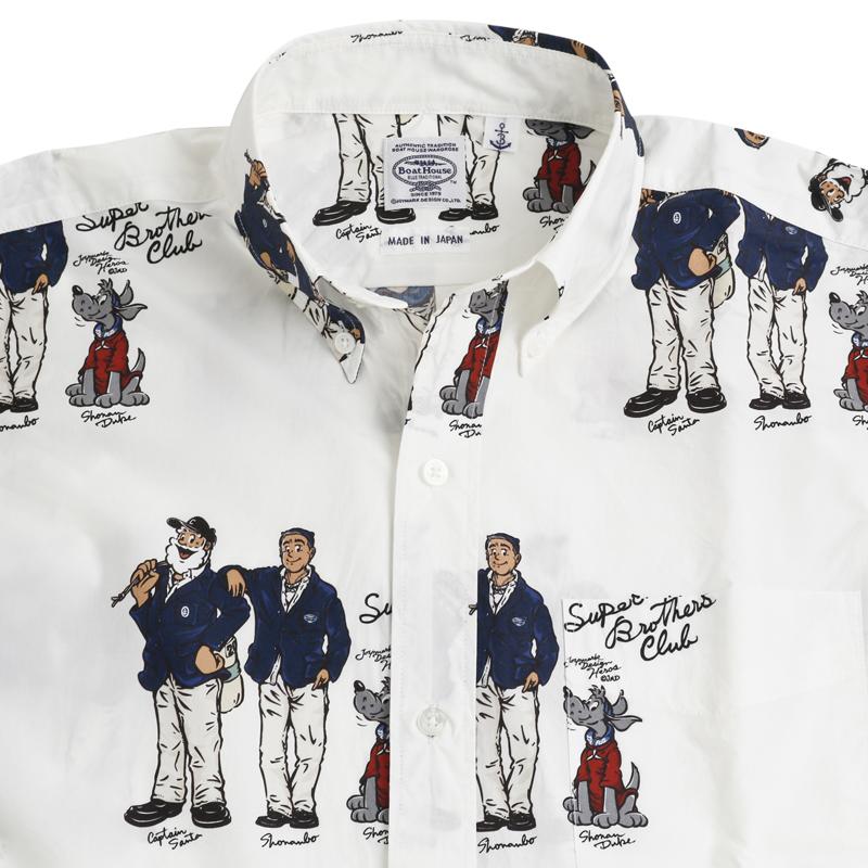 《ボートハウス》BH SUPER BROTHERS総柄L/SBDシャツ
