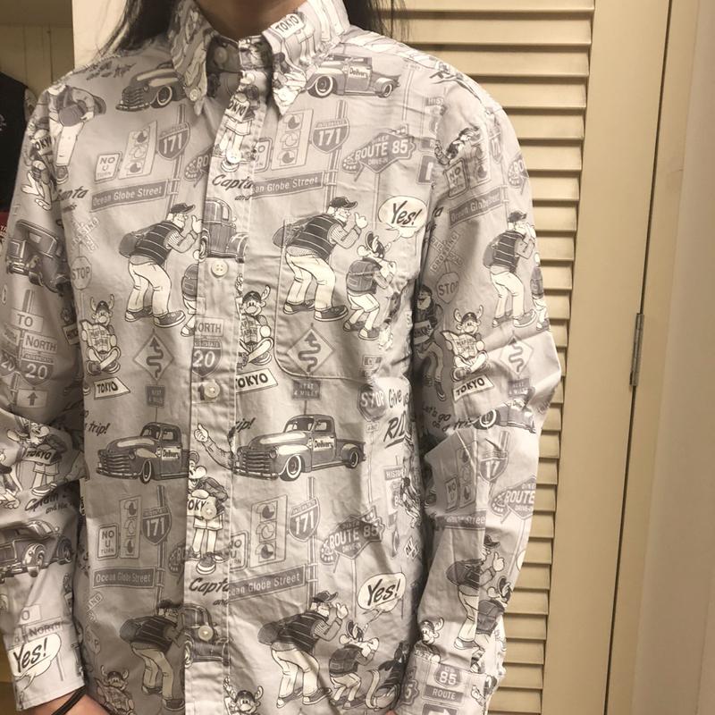 《キャプテンサンタ》CSヒッチハイクソウガラL/SBDシャツ