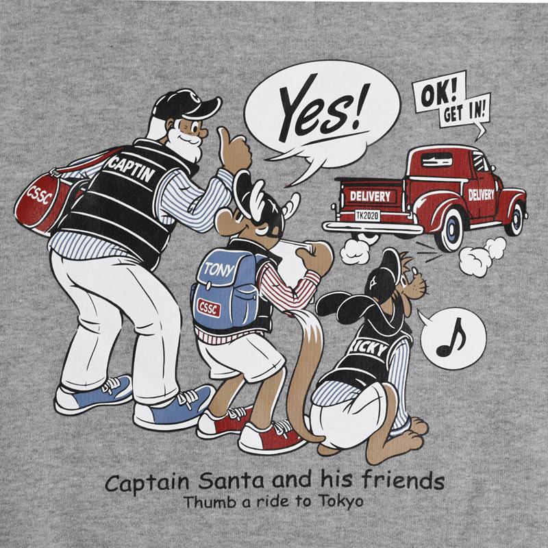 《キャプテンサンタ》4面トラベルサンタスウェットシャツ