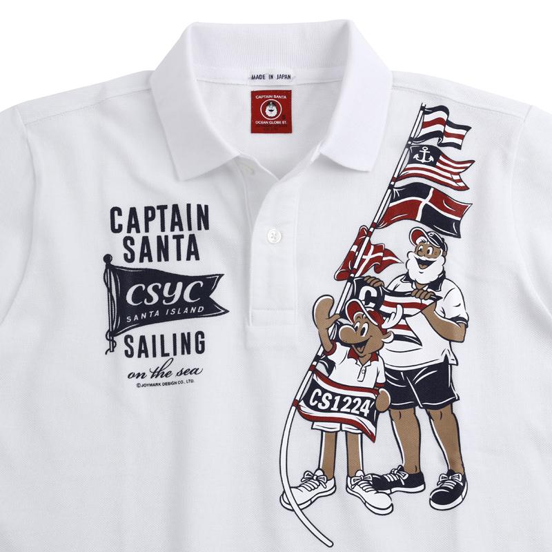 《キャプテンサンタ》フラッグサンタカノコポロシャツ