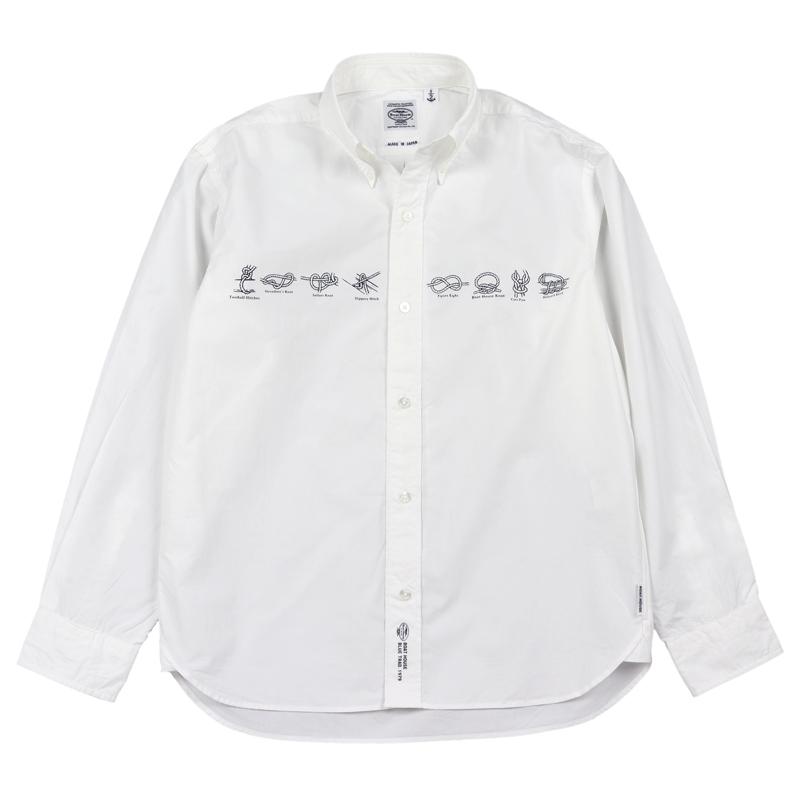 《ボートハウス》ロープ柄タイプライターL/S BDシャツ