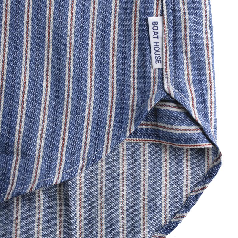 《ボートハウス》BHセルビッジストライプL/Sシャツ