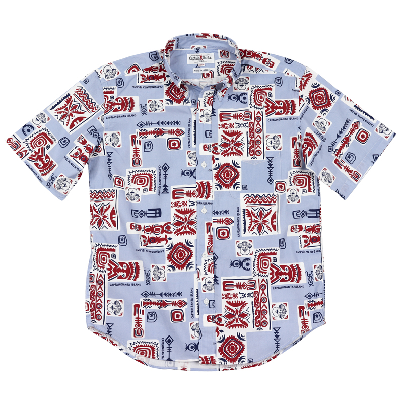 《キャプテンサンタ》HAWAIIAN総柄S/SBDシャツ
