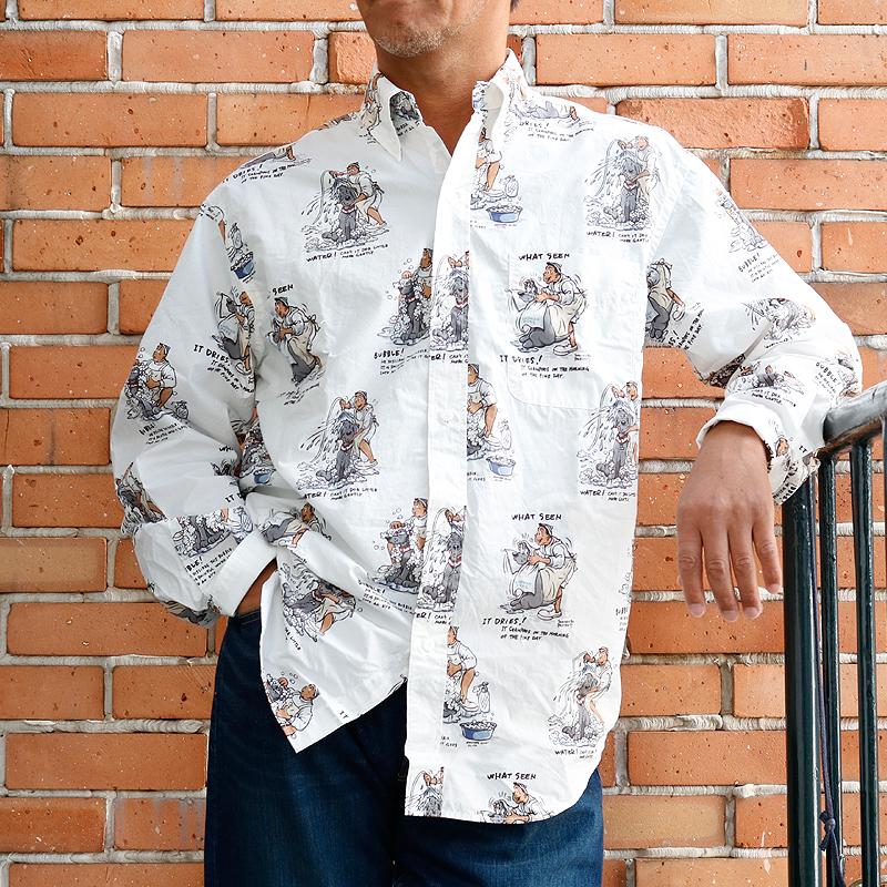 《ショーナンデューク・ボートハウス》SHONANBO & DUKE シャンプー総柄L/SBDシャツ