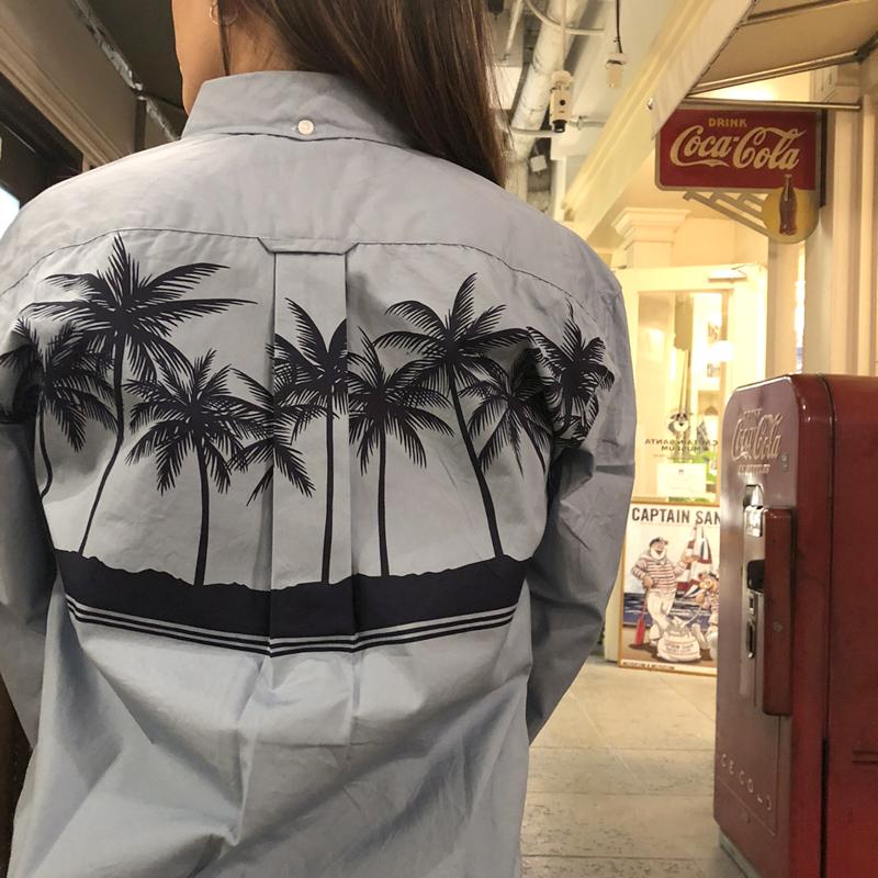 《キャプテンサンタ》CSパームツリーL/SBDシャツ