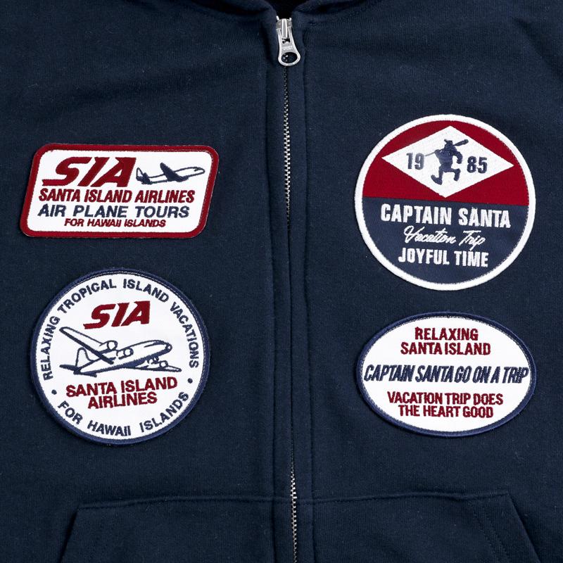 《キャプテンサンタ》CS SI AIR LINESフロントジップパーカ
