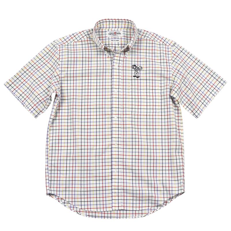 《キャプテンサンタ》マドラスチェックS/SBDシャツ