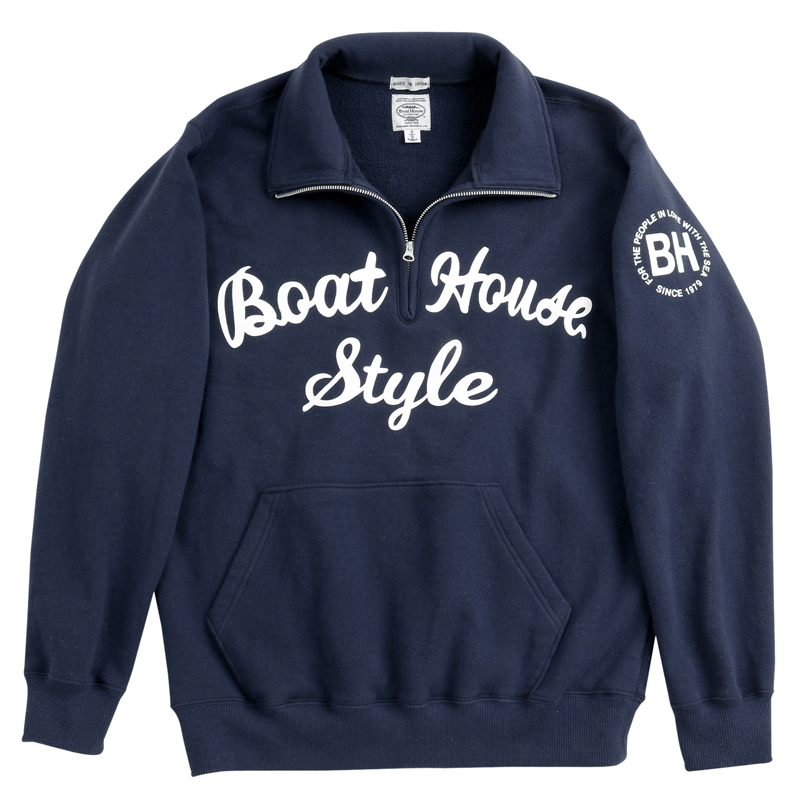 《ボートハウス》BH ジップアップスウェットシャツ