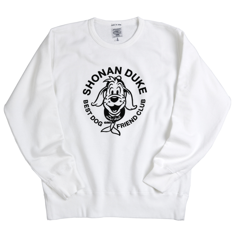 《ショーナンデューク・ボートハウス》DUKE フロッキープリントスウェットシャツ