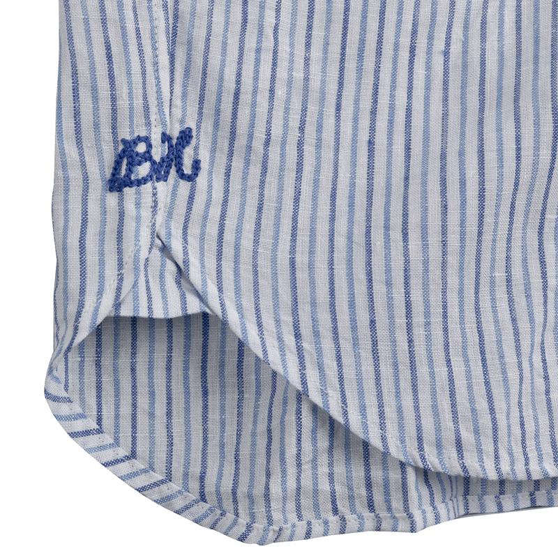 《ボートハウス》BH リネンストライプL/SBDシャツ
