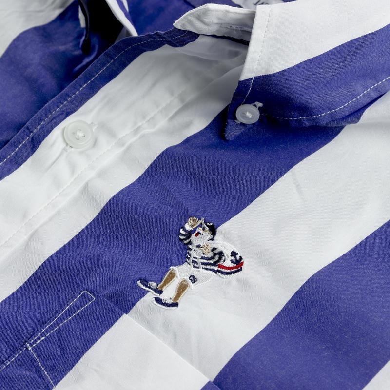 《キャプテンサンタ》ブルーストライプS/S BDシャツ