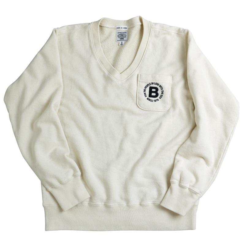 《ボートハウス》BH ポケット付き Vネックスウェットシャツ