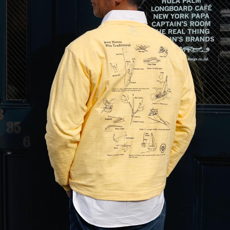 《ボートハウス》BH CAPTAIN スラブ天竺L/STシャツ