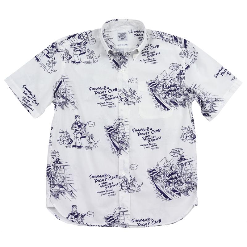 《ショーナンデューク・ボートハウス》SHONANBO&DUKE総柄S/SBDシャツ