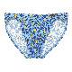 コンフォートマイクロブリーフ ブルー幾何柄 401592-40P0BI