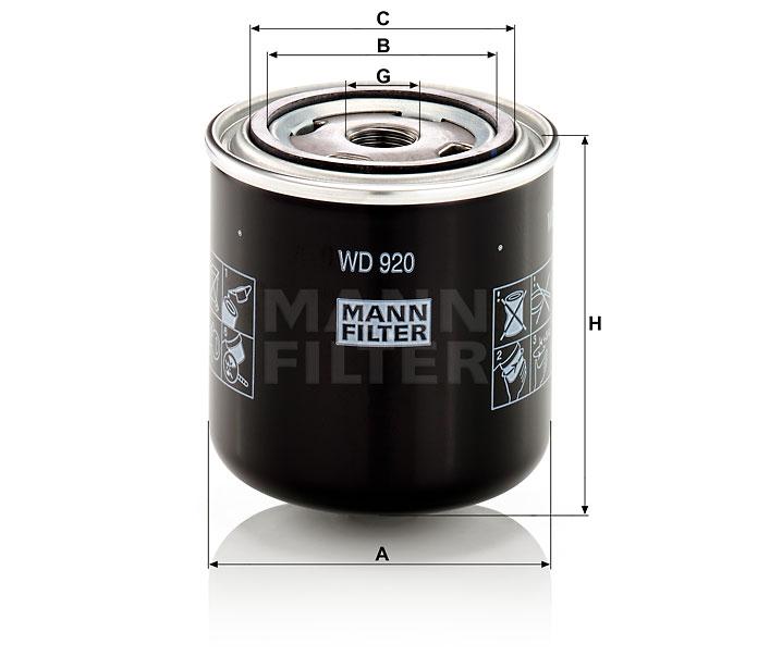 (ドイツ取寄せ品・入荷時期未定)  油圧装置 WD920 MANN-FILTER
