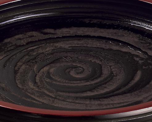 菓子鉢 象谷縁後藤塗