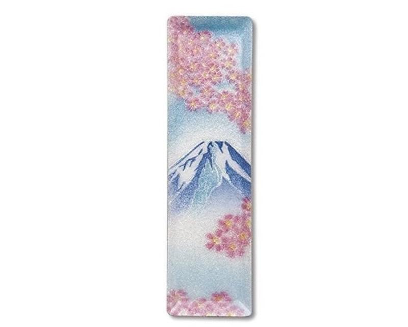 七宝焼 ミニペン皿 富士桜