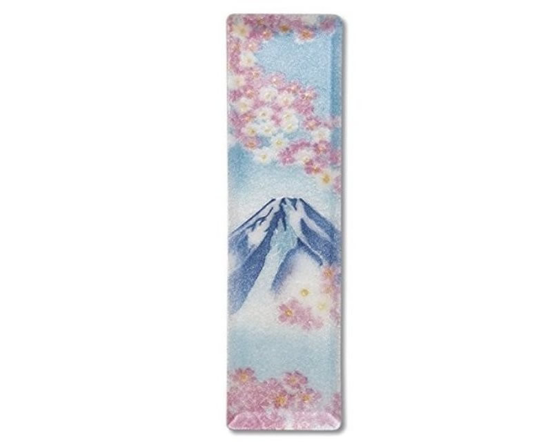 七宝焼 ペン皿 小 富士桜