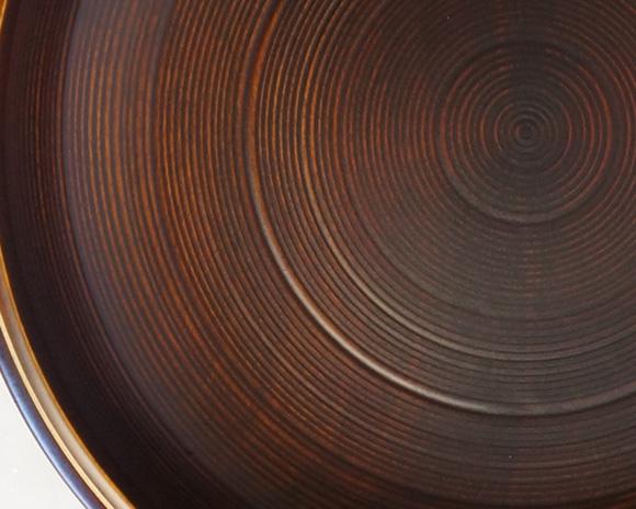 山中塗 盛鉢 木地呂金線