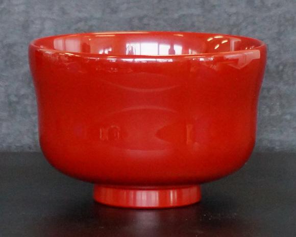 越前塗 汁椀 瓢型 朱 食洗機対応
