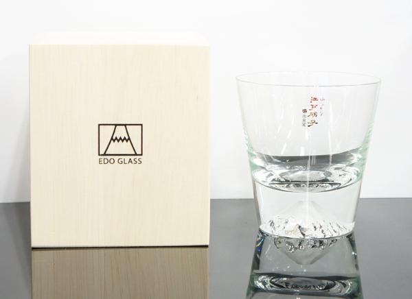 江戸硝子 富士山ロックグラス (田島硝子製)