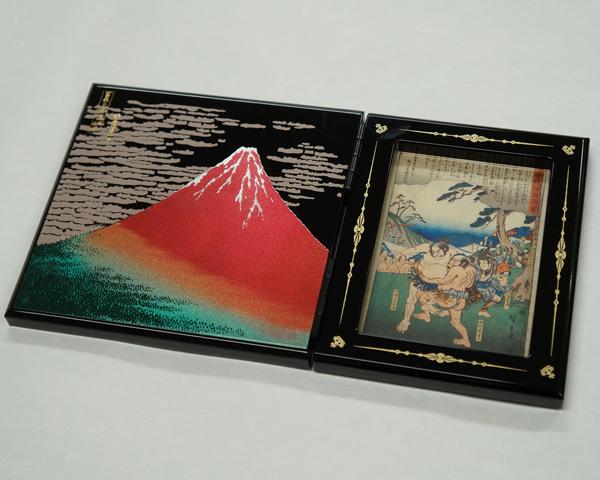 漆芸 パネルピクチャー 赤富士