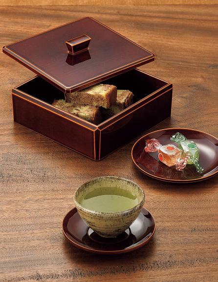 飛騨春慶塗 茶托揃(5枚セット)