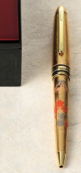 箔工芸 ボールペン 富士桜