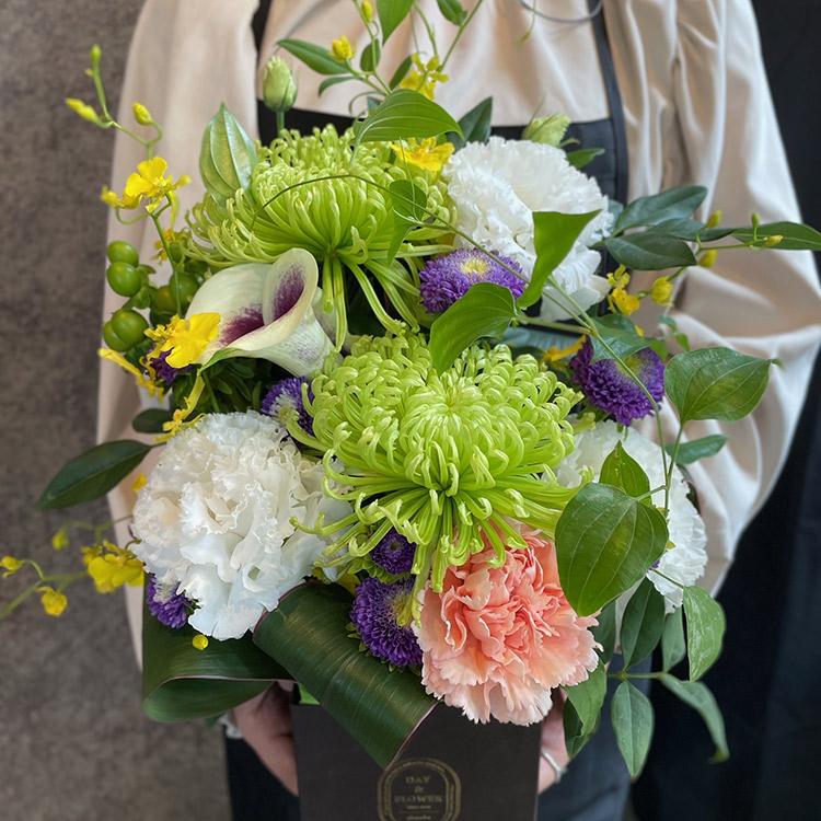 DAY&FLOWER D&F box(M) アレンジ DFMB50-WGV 【送料込】