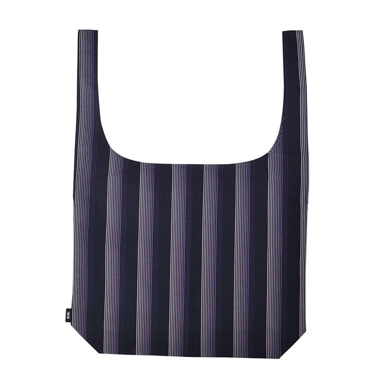 小倉 縞縞 小倉織 シンプルショルダーバッグM (#068紫流)