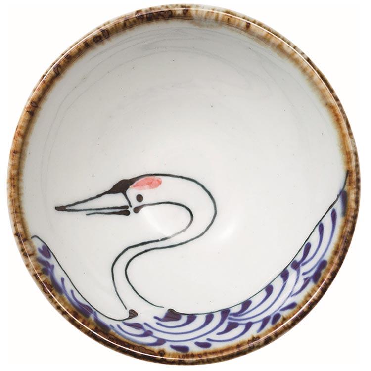翔芳窯 kotohogi 平盃 鶴 波佐見焼 (西海陶器)