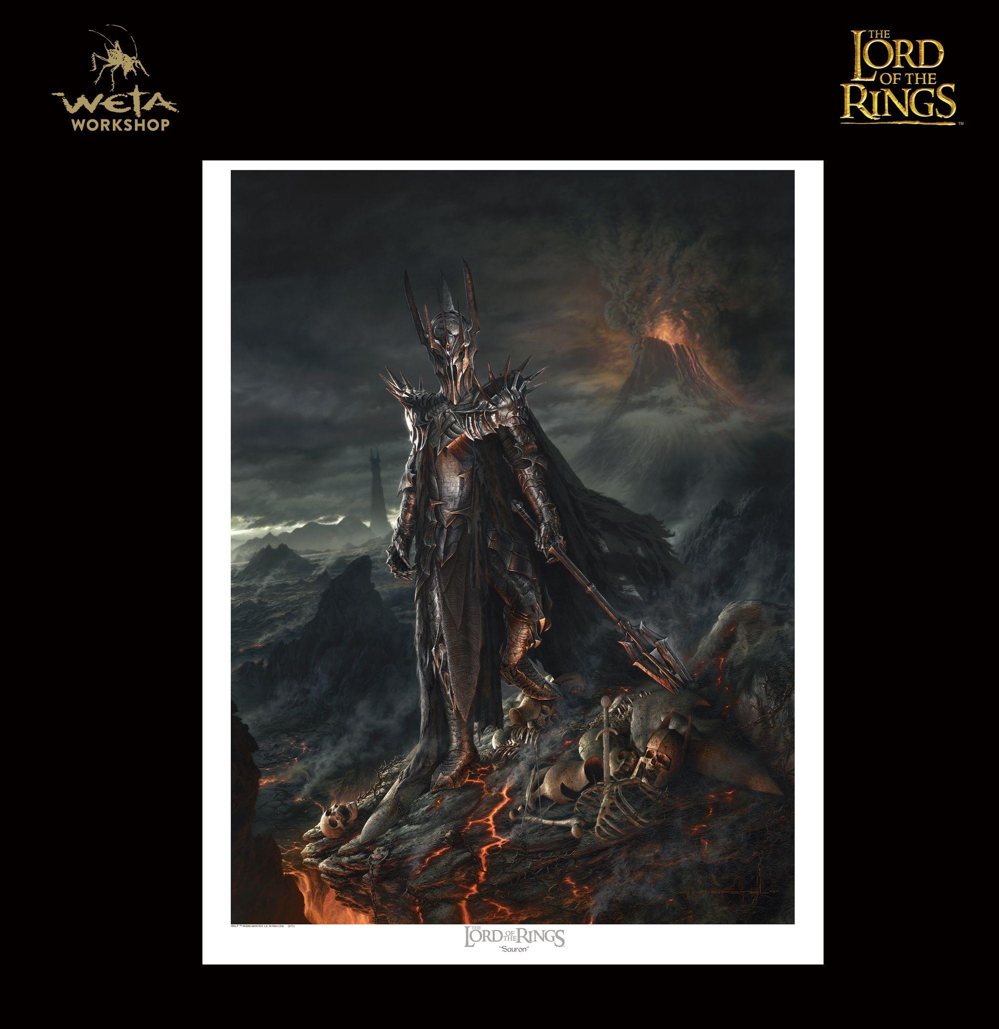 ロード オブ ザ リング サウロン プリント The Lord Of The Rings : Jerry Vanderstelt - Sauron - Lord of the Rings Paper Giclee Print
