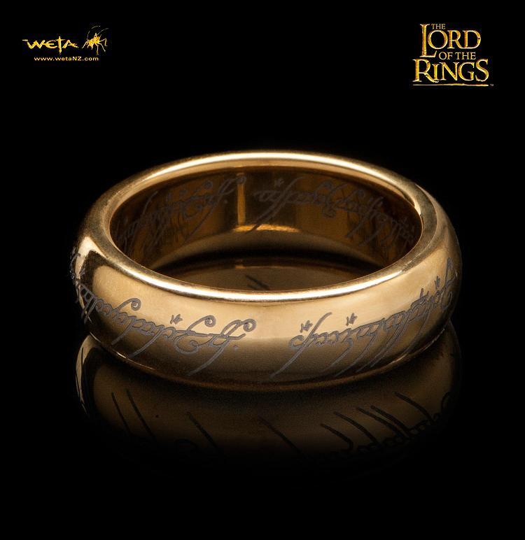 ロード・オブ・ザ・リング ひとつの指輪  金メッキタングステンカーバイド(文字刻印あり)
