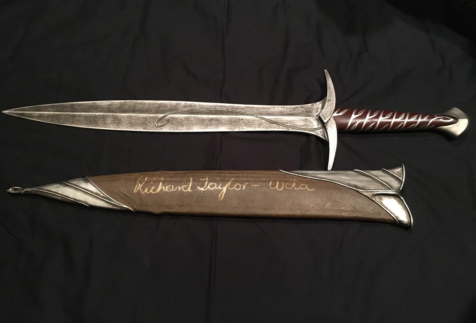 ホビット 思いがけない冒険 ビルボ・バギンズの剣 スティング ソード レプリカ リチャード・テイラー氏 サイン入り