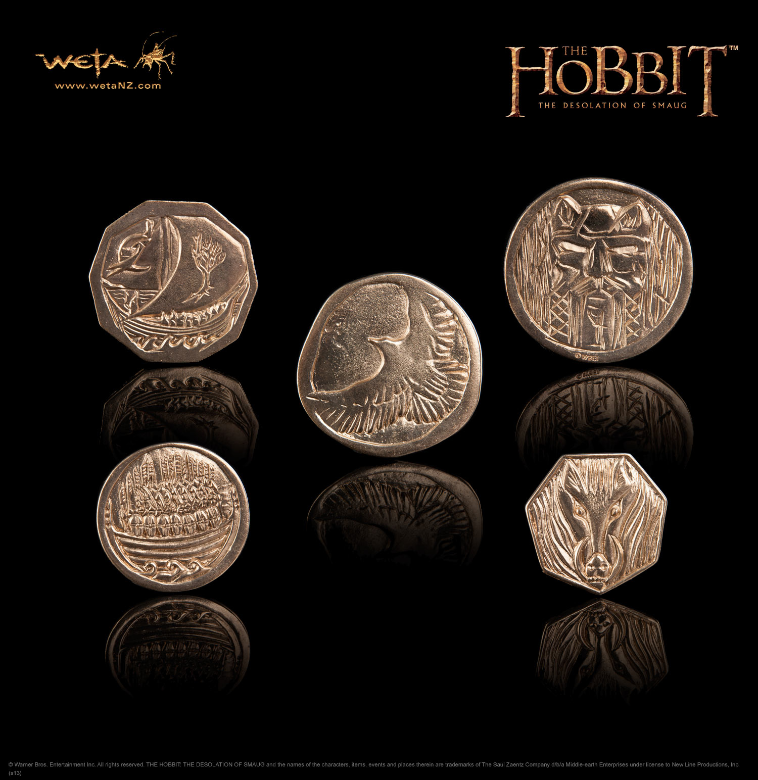 ホビット 竜に奪われた王国 スマウグの宝 コイン セット (全5種)