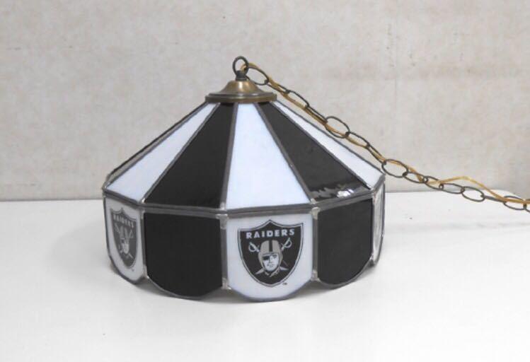 レイダース ステンドグラス 照明 ペンダントライト ハーレー NFL スポーツ インテリア アメリカン雑貨 アンティーク レトロ ヴィンテージ