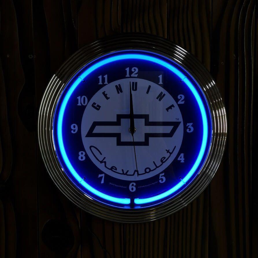 シボレー ネオン 時計 看板 アメリカン雑貨 照明 インテリア 壁掛け時計 ガレージ ハンドメイド DIY アメ車 子供部屋 アストロ 店舗 車屋
